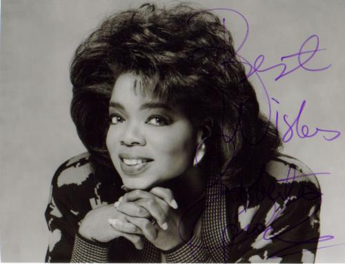 Oprah Winfrey Young  amp  Inscribed Signed Photo Oprah Winfrey As A Young Adult