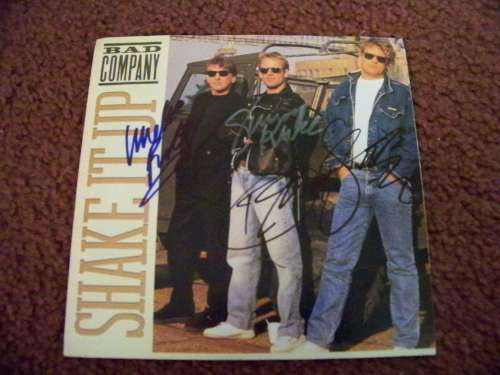 'Bad Company' Vintage Autographed 45 rpm Record by All 3!
