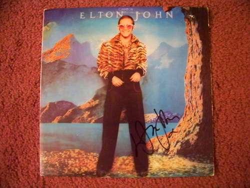 Elton John Autographed Vintage (1974) 'Caribou' Album Cover!