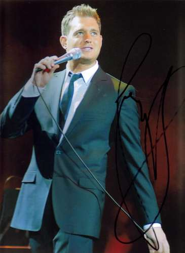 Michael Buble Uncommon Autographed 11x14 Photo - Wow!