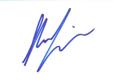 Shania Twain Great Signed Index Card!