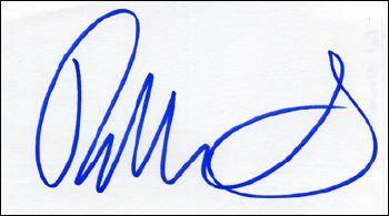 Rod Stewart 'Rare' Signed Index Card!