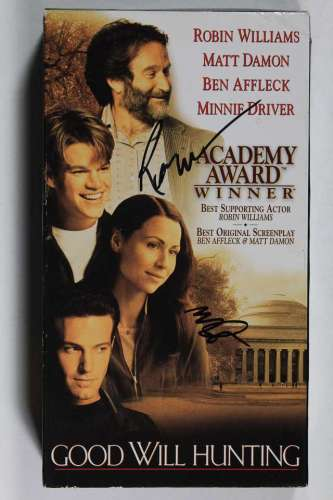 Robin Williams & Minnie Driver Autographed 'Good Will Hunting' VHS Cover w/Video