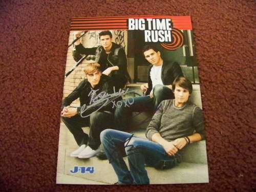 'Big Time Rush' Autographed Color Magazine Photo!