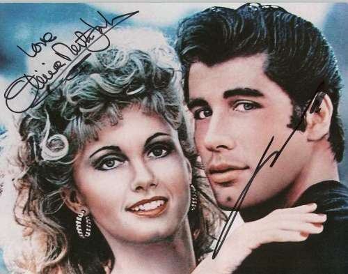 Olivia Newton-John & John Travolta Vintage 'Grease' Autographed Photo!