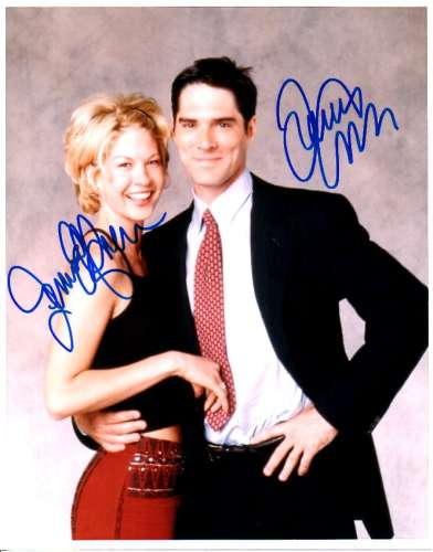 Jenna Elfman & Thomas Gibson 'Dharma' Autographed Photo!