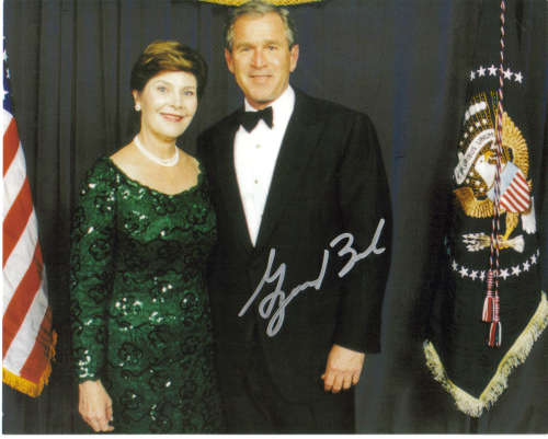 George W. Bush (as President) Autographed Color Photo - Nice!