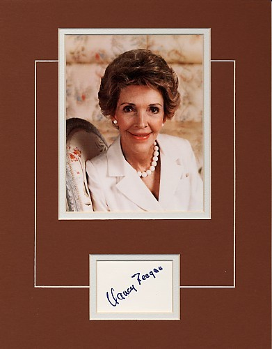 Nancy Reagan Very Uncommon Signed Photo Ensemble!