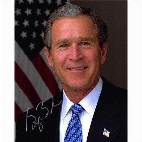 U.S. President George Bush Awesome Autographed Photo!