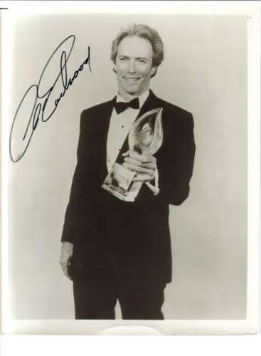 Clint Eastwood Young & Vintage Autographed Photo - Nice!