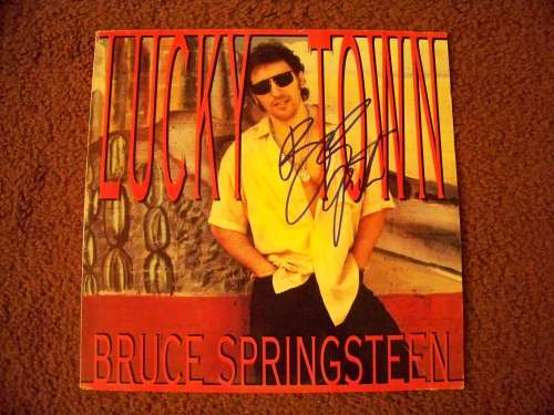 Bruce Springsteen Autographed 'Lucky Town' Album Cover!