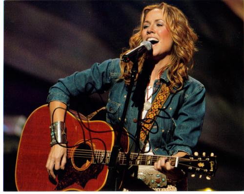 Sheryl Crow Nice On-Stage Autographed Photo!