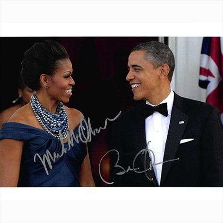 President Barack Obama & Michelle Obama Autographed Photo - Uncommon!