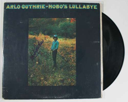 Arlo Guthrie Autographed Vintage 'Hobo's Lullabye' Album with LP!