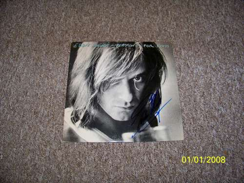 Eddie Money Young & Vintage Autographed Album Cover with LP!