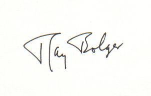 Ray Bolger (1904-1987) Rare 'Wizard Of Oz' Vintage Signed 3X5 Index Card!