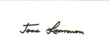 Jack Lemmon 'Odd Couple' Signed Index Card!