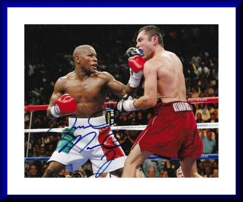Floyd Mayweather, Jr. Great Autographed Photo!