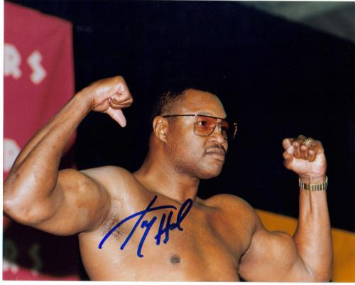 Larry Holmes Incredible Autographed Photo - Nice!