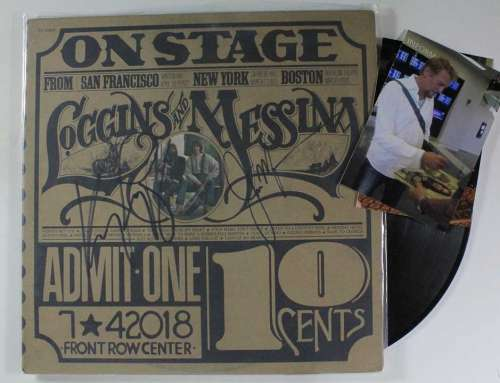 Kenny Loggins & Jim Messina Vintage (1974) Autographed Dual Album with LP's