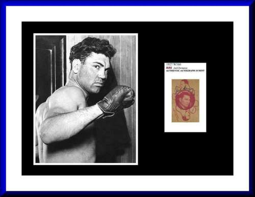 Jack Dempsey (1895-1983) Very Rare Autographed Photo Display!