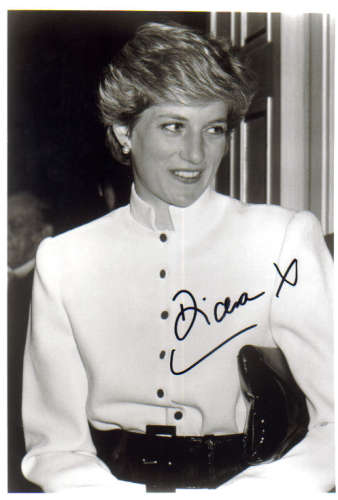 Princess Diana (1961-1997) Extremely Rare Autographed Photo - Wow!