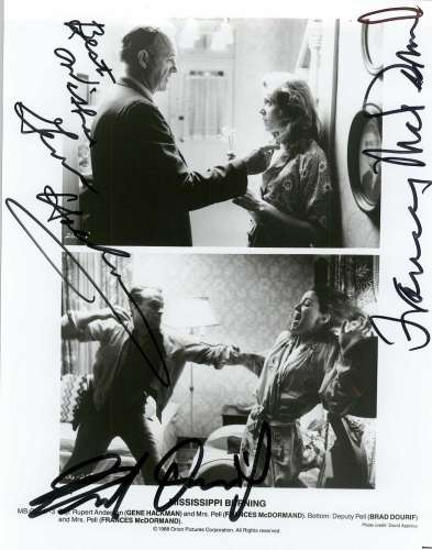 Gene Hackman & Frances McDormand 'Mississippi Burning' Autographed Photo!
