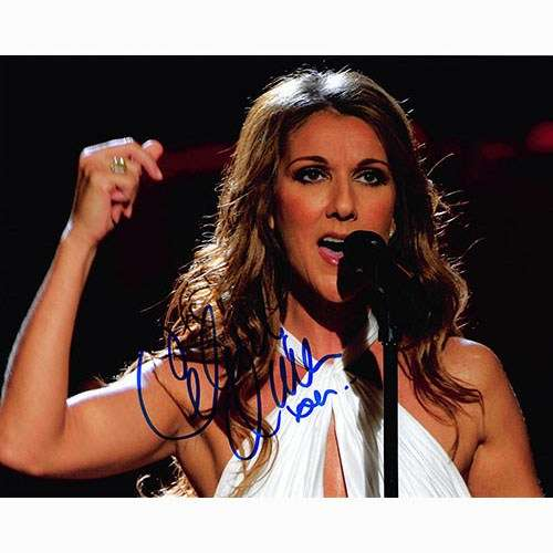 Celine Dion Awesome Autographed Closeup Photo!