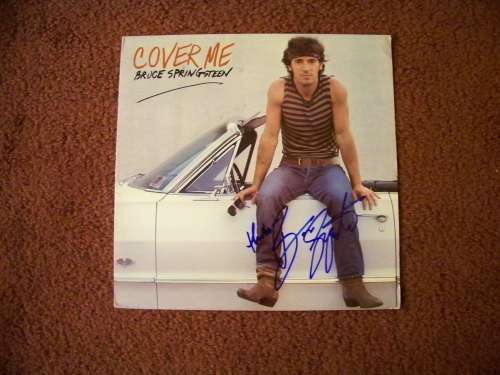 Bruce Springsteen Vintage (1984) 'Cover Me' Autographed Album Cover!