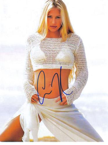 Anna Kournikova Steamy Closeup 8.5X11 Signed Photo!
