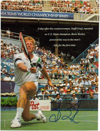Boris Becker Tennis Legend Signed 8.5X11 Magazine Page!