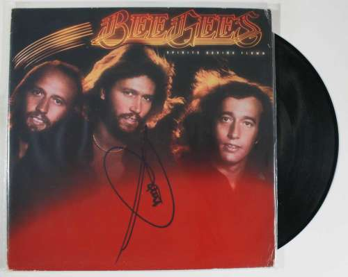 Barry Gibb Autographed 'Bee Gees' Album with LP!