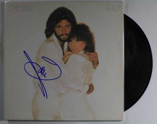 Barry Gibb 'Bee Gees' Autographed 'Guilty' (1980) Album Cover with LP!
