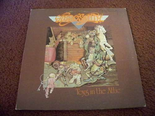 Aerosmith 'Toys in the Attic' Album Cover Autographed by Steven Tyler - NO LP