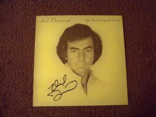 Neil Diamond Autographed 'You Don't Bring Me Flowers' Album Cover!