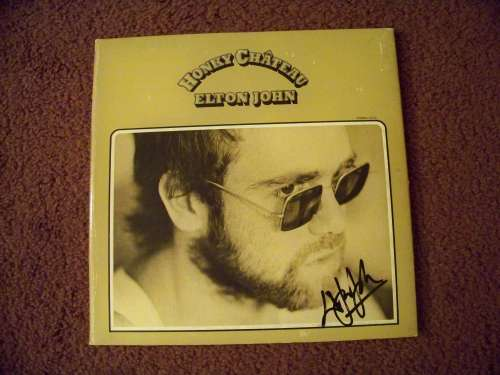 Elton John Autographed 'Honky Chateau' Vintage (1972) Album with LP!