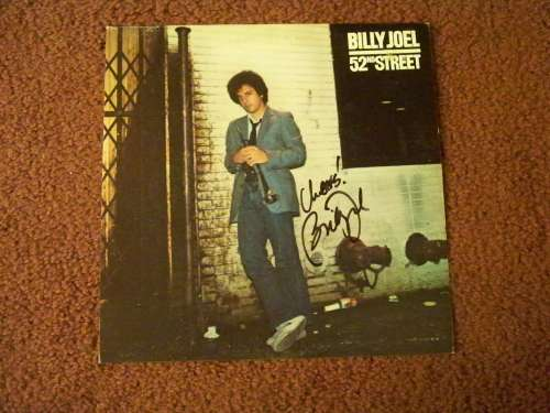 Billy Joel Autographed Vintage '52nd Street' Album Cover!