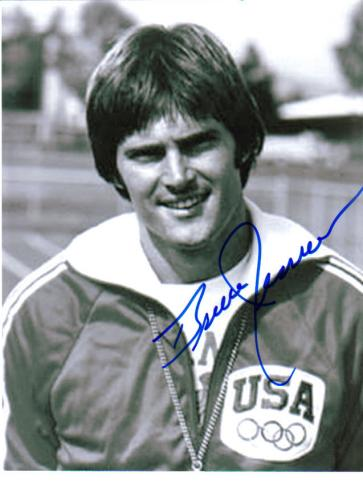 Bruce Jenner Olympics Vintage Signed 8.5X11 Photo!