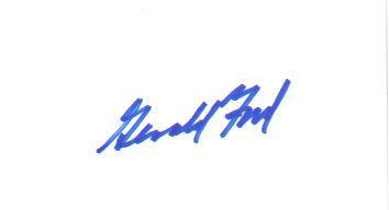 U.S. President Gerald R. Ford Vintage Signed Index Card!
