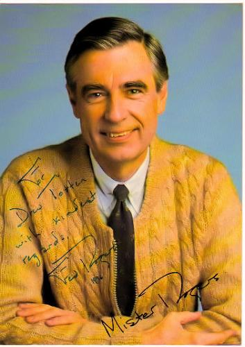 Fred Rogers 'Mister Roger's Neighborhood' Signed & Inscribed RARE 5X7 Photo!