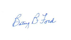 First Lady Betty Ford Vintage Signed Index Card!