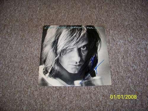 Eddie Money Young & Vintage Autographed Album Cover with LP!