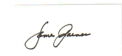 James Garner Awesome Signed 3X5 Index Card!