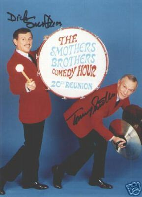 Smothers Brothers Great Vintage Autographed Photo By Both!