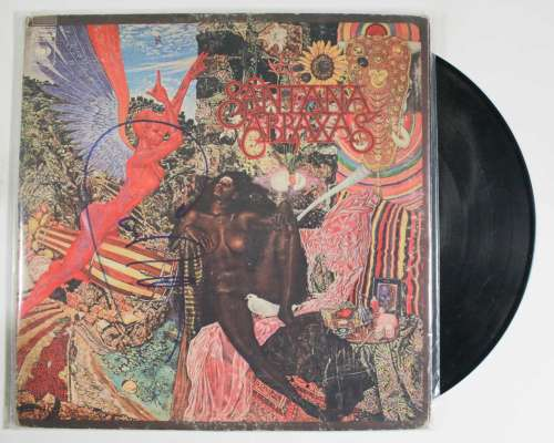Carlos Santana Autographed 'Abraxas' Album Cover with LP!