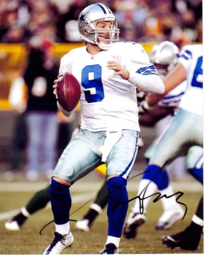 Tony Romo Autographed 'Dallas Cowboys' Action Photo!