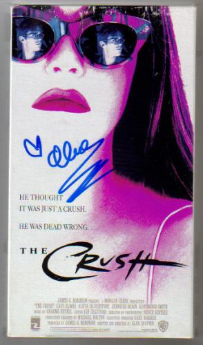 Alicia Silverstone Autographed 'The Crush' VHS Movie!