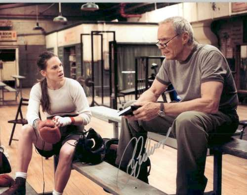Clint Eastwood Autographed 'Million Dollar Baby' Movie Still!