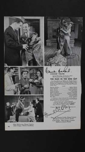 Jessica Tandy, Hume Cronyn & More Autographed Theater Program Photo!