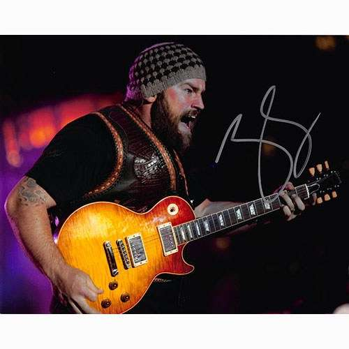 Zac Brown Awesome On-Stage Autographed Photo!